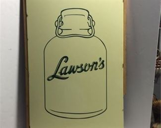 Lot 30 VERY RARE 1950's Lawsons Milk Porcelain Sign EARLY 22x36