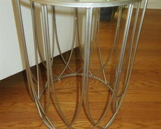 $75 Modern Drum Accent Table 17 inch diameter -23 inch Height