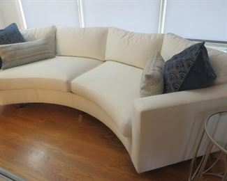"""$1695 Thayer Coggin Clip Curved Sofa Like New Excellent Condition 125"""" W x 38"""" D x 30"""" H"""