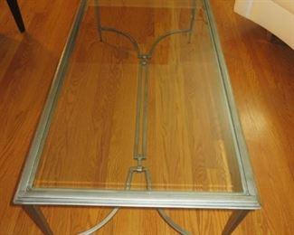 $295 Maison Jansen Style Glass Top Coffee Table