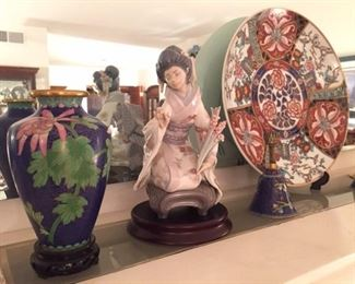 Cloisonné and Lladro