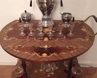Inlaid Italian Tea Cart