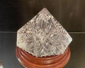 "Waterford ""diamond"" paperweight"
