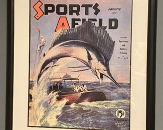 Sports Afield poster of a 1941 cover
