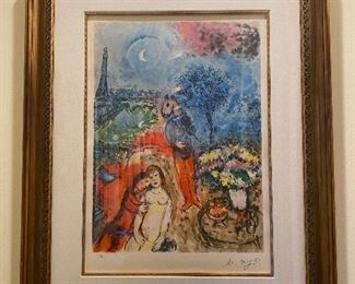 "Marc Chagall lithograph numbered 3/500 Frame: 36"" x 45"", art: 22"" x 31"""