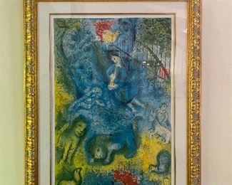 "Marc Chagall lithograph numbered 114/335 Frame: 41"" x 57"", Art: 30"" x 42"""