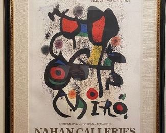 "Miro exhibition poster at Nahan Galleries Framed 31"" x 37"""
