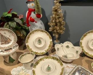 Spode Christmas Tree serving pieces
