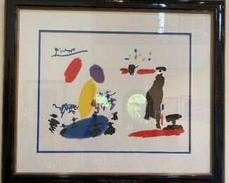 "Pablo Picasso ""Toros II"" numbered serigraph, 1993  - comes with  Certificate of Authenticity 275/500"