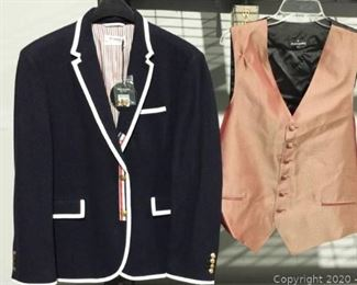 New Thom Brown All American Blazer and Iridescent Vest