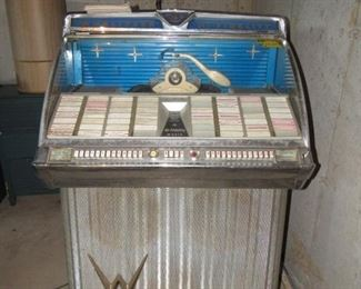"Vintage Wurlitzer jukebox- Unfortunately the juke box is not working properly.  We will be accepting offers ""as is"""