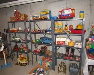 Lots of great vintage toys- Matchbox, Tonka, fisher price and more