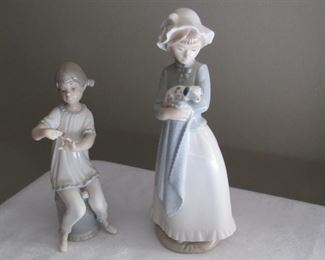 2 Lladro - one has a small amount of damage