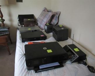Electronics- printer, DVD players, cameras, radios scanner