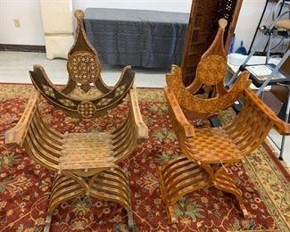 Folding Wood Indonesian Chairs