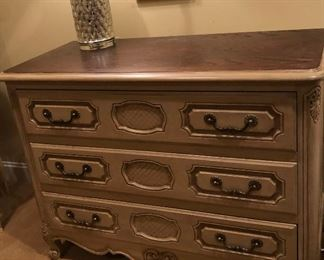 Henredon Four Centuries Dresser 1 Available 1 Sold $175 each  4 inches wide by 20 1/2 inches deep by 32 inches high