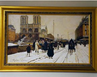 "E. Galien-Laloue Giclee on Canvas 16""Hx24""W"