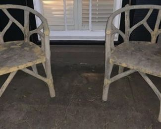 faux bois chairs