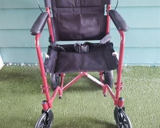 Transport Chair used just a few times. The leg braces are included with this as well.