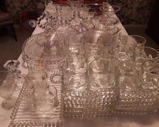 Candlewick glassware.