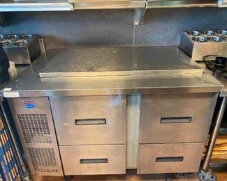 "48"" Refrigerated Sandwich Prep Table Randell model 9030K-7"