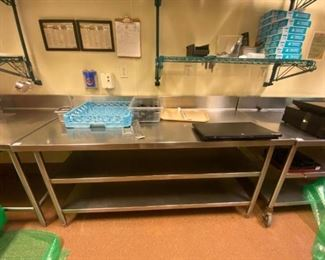 "72"" Stainless steel prep table"