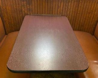 """Wall mounted booth tables (10) 42""""x26"""""""