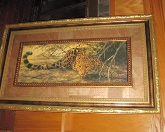 Tiger print professionally framed