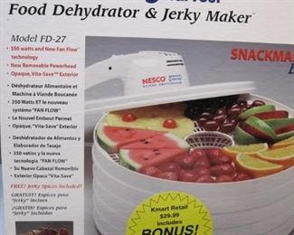 Nesco new in box food dehydrator