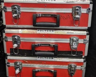 3 padded road cases  18x13x6