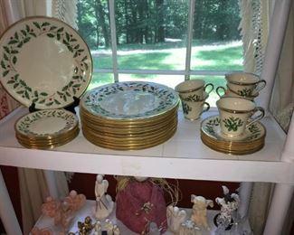 Set of Lenox Christmas china