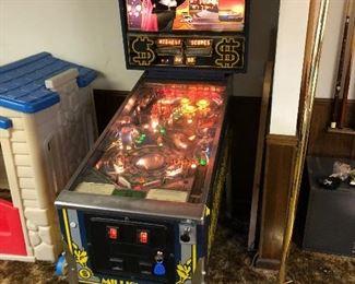Williams Millionaire pinball machine.