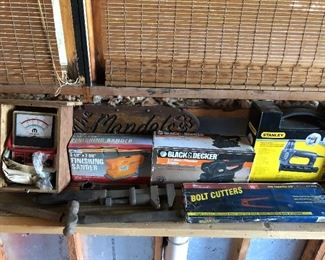 Class tool brands throughout.  Stanley, Black & Decker, etc.