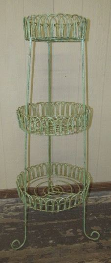 """55"""" Tall Iron Triple Round Plant Stand"""