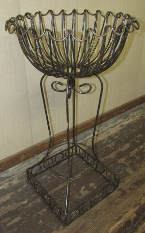 Large Iron Plant Stand