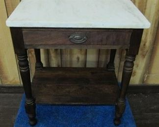 Marble Top 1 Drawer Table