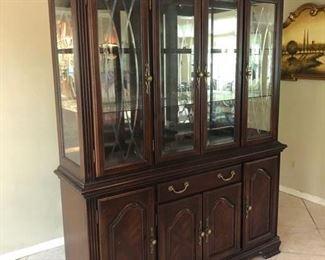 Dark Solid Wood China Cabinet $300 OBO
