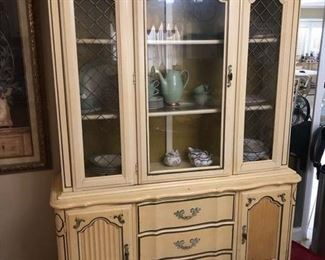French Provincial Style China Cabinet $40