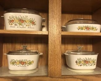 Corning Ware Spice of Life La Marjolaine Dishes with Lids