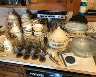 Large set of Pfaltzgraff, including canisters, tureen and more.