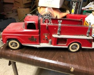 Vintage toy fire engine.