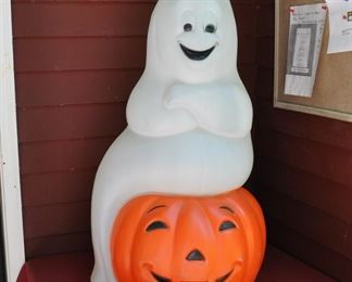 Empire happy ghost and Jack O'L. Works! $68.00 About 3 feet high.
