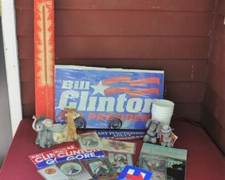 Various prices for political items. Vtg. Sparklers have 3 inside unused