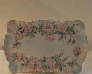 Porcelain rose dresser tray, $22.00