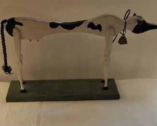 Skim Milk cow! Wood, $16.00