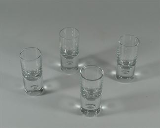 4 vintage Kosta Boda shot glasses. No chips or cracks. $35.