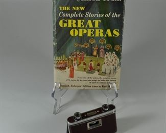 Opera book and opera glasses: $10