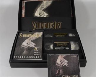 Schindler's List Collector's set with sound track CD, two VHS tapes, book, and pciture album:  $10