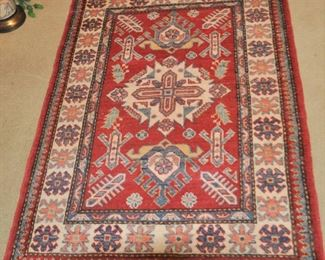 Nice small wool rug. Clean, colors accurate! $200.00