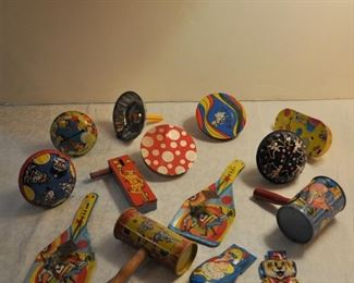 Lot of noisemakers and clickers $22.00 all.